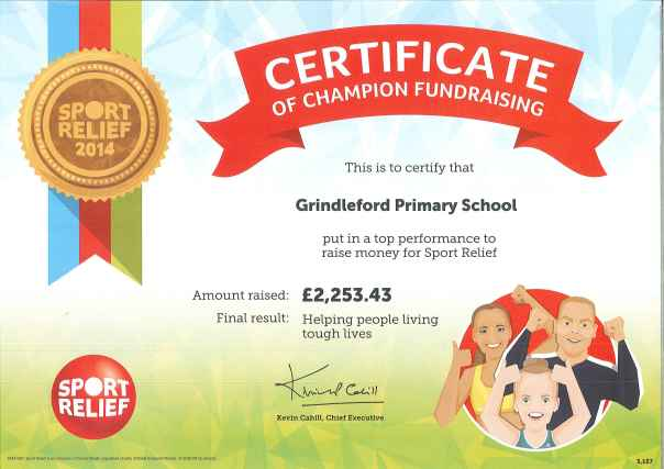 Sports Relief Certificate