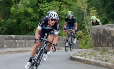 First rider over the bridge